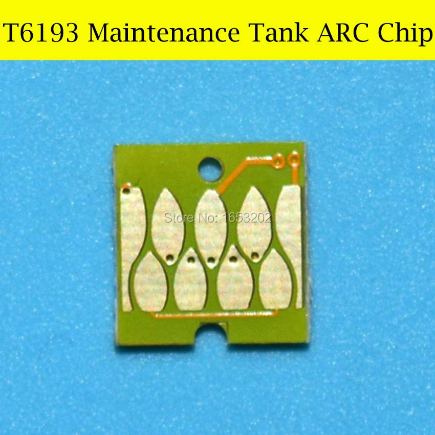 2 PC T6193 6193 Maintenance Tank Chip For EPSON Sure Color T3200 T5200 T7200 T3000 T5000 T7000 Plotter Printer Auto Reset Chip