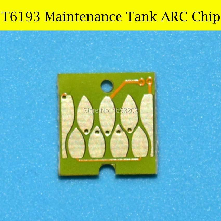 2 PC T6193 6193 Maintenance Tank Chip For EPSON Sure Color T3200 T5200 T7200 T3000 T5000 T7000 Plotter Printer Auto Reset Chip for epson sure color s30680 s50680 s70680 solvent damper page 2