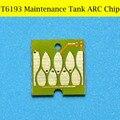 2 pc 6193 chip de tanque de manutenção para epson sure color t3200 t5200 t7200 t3000 t7000 plotter impressora de chip de reset automático
