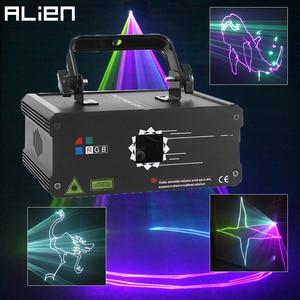 Image 1 - Alien 500 Mw 1W Rgb Full Color Animatie Laser Projector Dmx Beam Scanner Dj Disco Party Holiday Bar Xmas podium Verlichting Effect