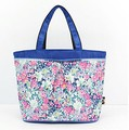 Hot 5 pattern Women printed flower Reusable Portable Shopping Bag Grocery Handbags Tote multi-layer Holders Bags
