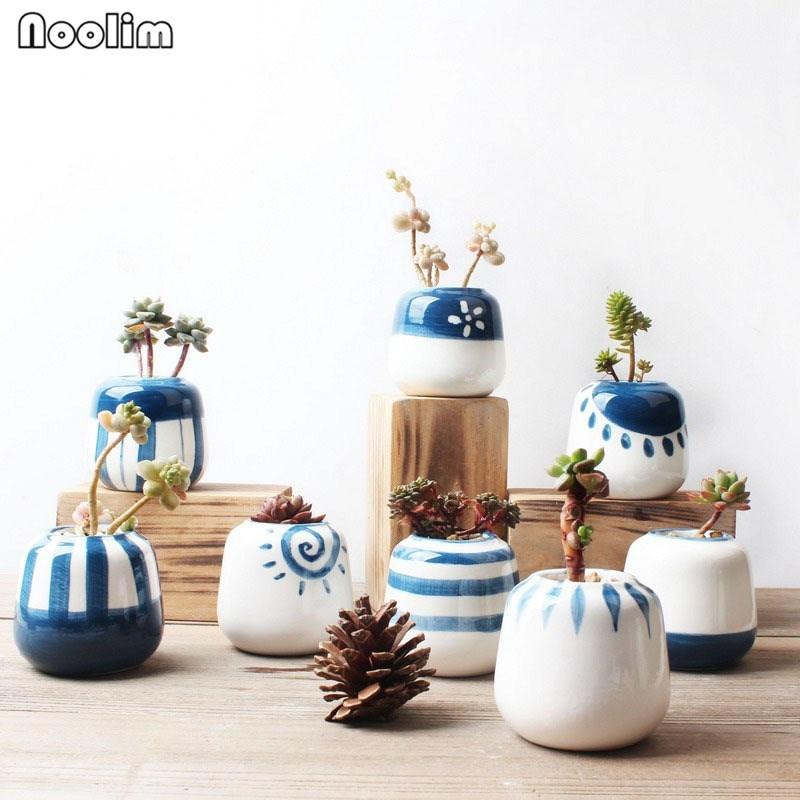 Noolim 8 шт./компл. оригинальный Дизайн мини Керамика сочные горшка фарфор ручной работы кашпо Домашний Декор цветочный горшок Карликовые деревья кашпо