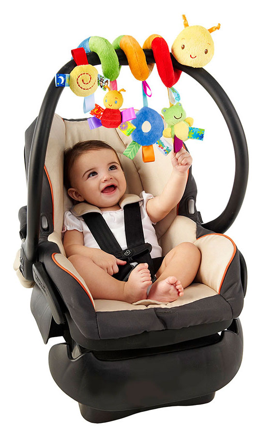 hot sale infant Toys Baby crib revolves around the bed stroller playing toy crib lathe hanging baby Rattles Mobile