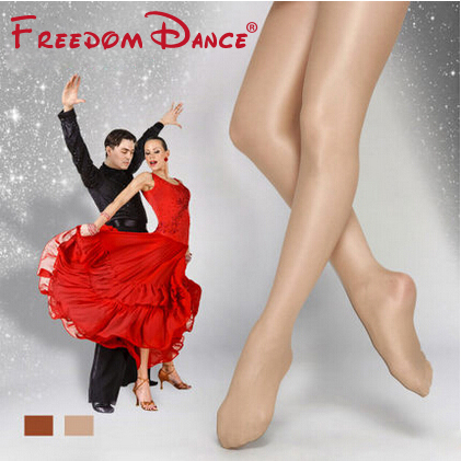 Gratis frakt Billig pris High Quality Footed Dance Shimmery Tights Stage Shimmer Ballet Dance Tights For Women (D004918)
