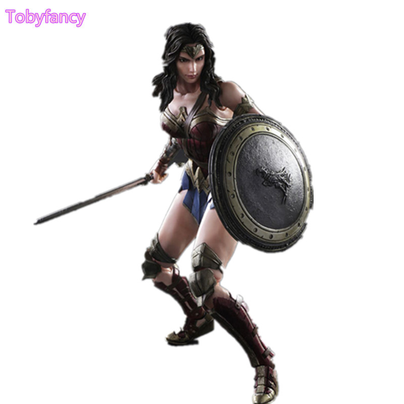 Wonder Woman Play Arts Kai PVC Action Figure Toy 260mm Anime Movie Dawn of Justice Batman v Superman Playarts Kai Wonder Woman play arts kai no 4 wonder woman action figure dawn of justice pvc toys batman v superman model for kids collection pak001049