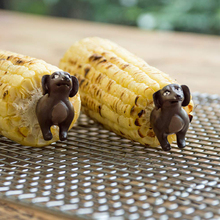 BBQ Skewers Fork-Picks Corn-Utensils Dog-Corn-Holders Kitchen-Accessories Fruit 8pcs