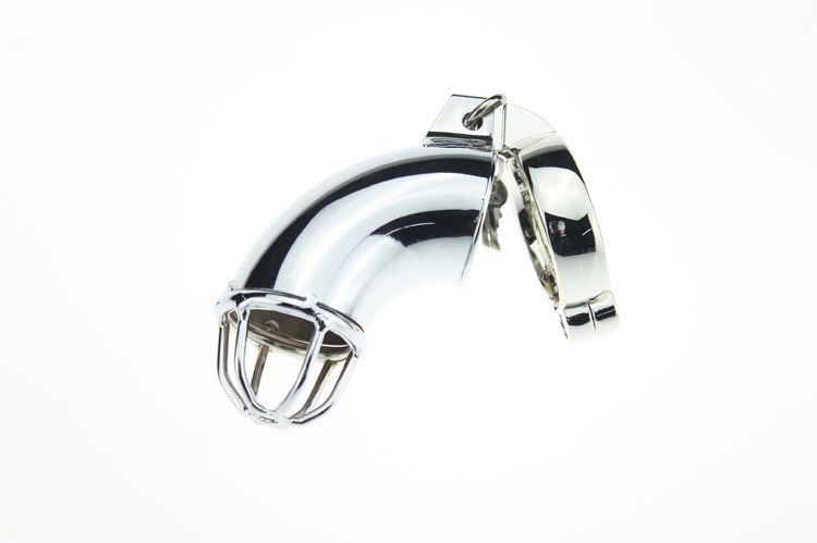 Metal male chastity device cock cage penis lock chastity belt sex toys men penis sex toys 5