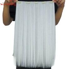 Xi.rocks Straight 5 Кліп у нарощених людських волоссях 25 кольорів Синтетичний подовжувач 50см Розширення Корсетні жіночі