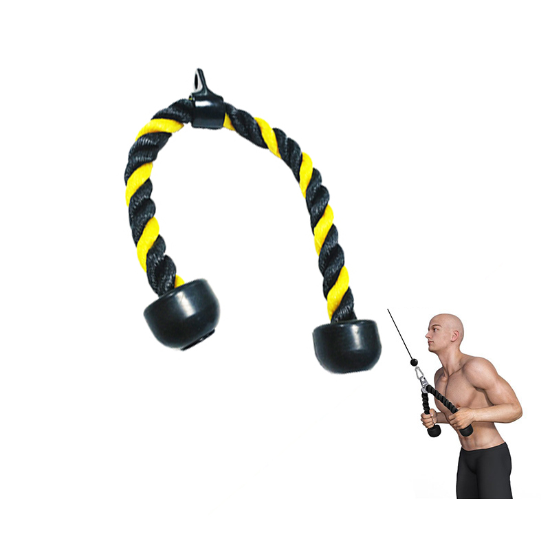 Triceps Pull Down Rope Biceps Training Push Rope Cord Bodybuilding Heavy Duty Workout Home Gym Fitness Exercise Equipment
