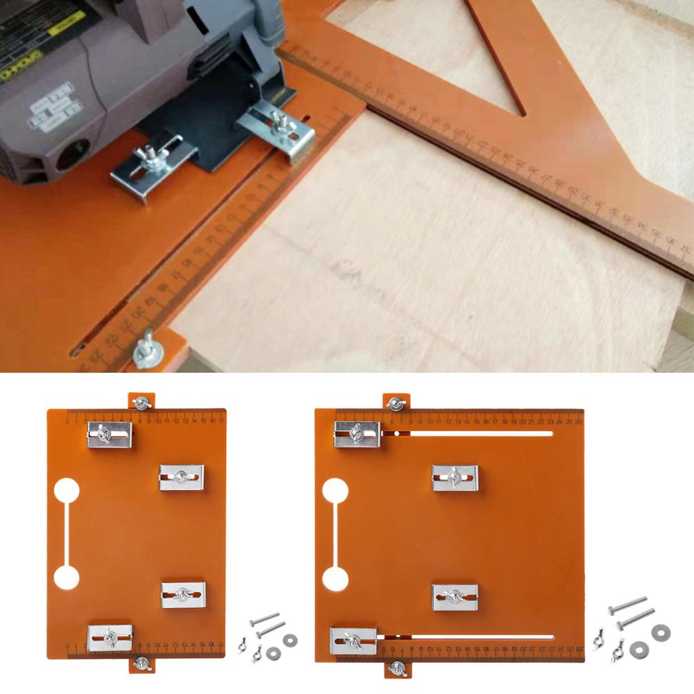 Electric Circular Saw Cutting Machine Guide Foot Ruler Conference Board Rail Plate Adjustable DIY Woodworking Tool