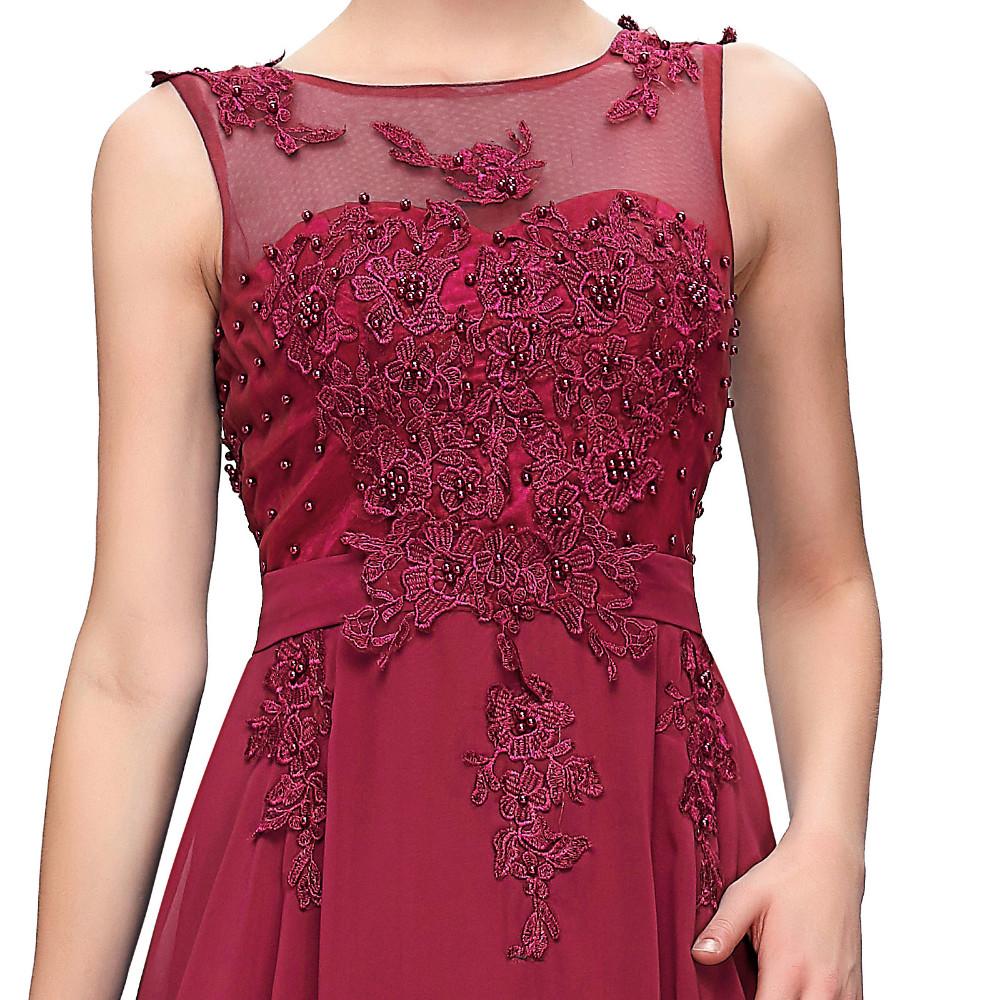 Grace Karin Elegant Long Evening Dresses 2016 Chiffon Pink Purple Red Royal Blue Black Formal Evening Dress Gown Abendkleider 56