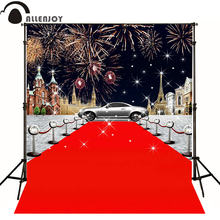 Allenjoy photographic background Fireworks red carpet car Aier Fei photography fantasy professional fabric vinyl Private party
