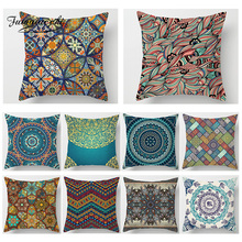 Fuwatacchi Geometric Colorful Floral Print Cushion Cover Woven Decoration Throw Pillows Home Sofa Decorative Case