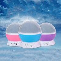 Rotating Night Light Projector Spin Starry Star Luminaria Moon Novelty Table Lamp Children Kids Baby Sleep