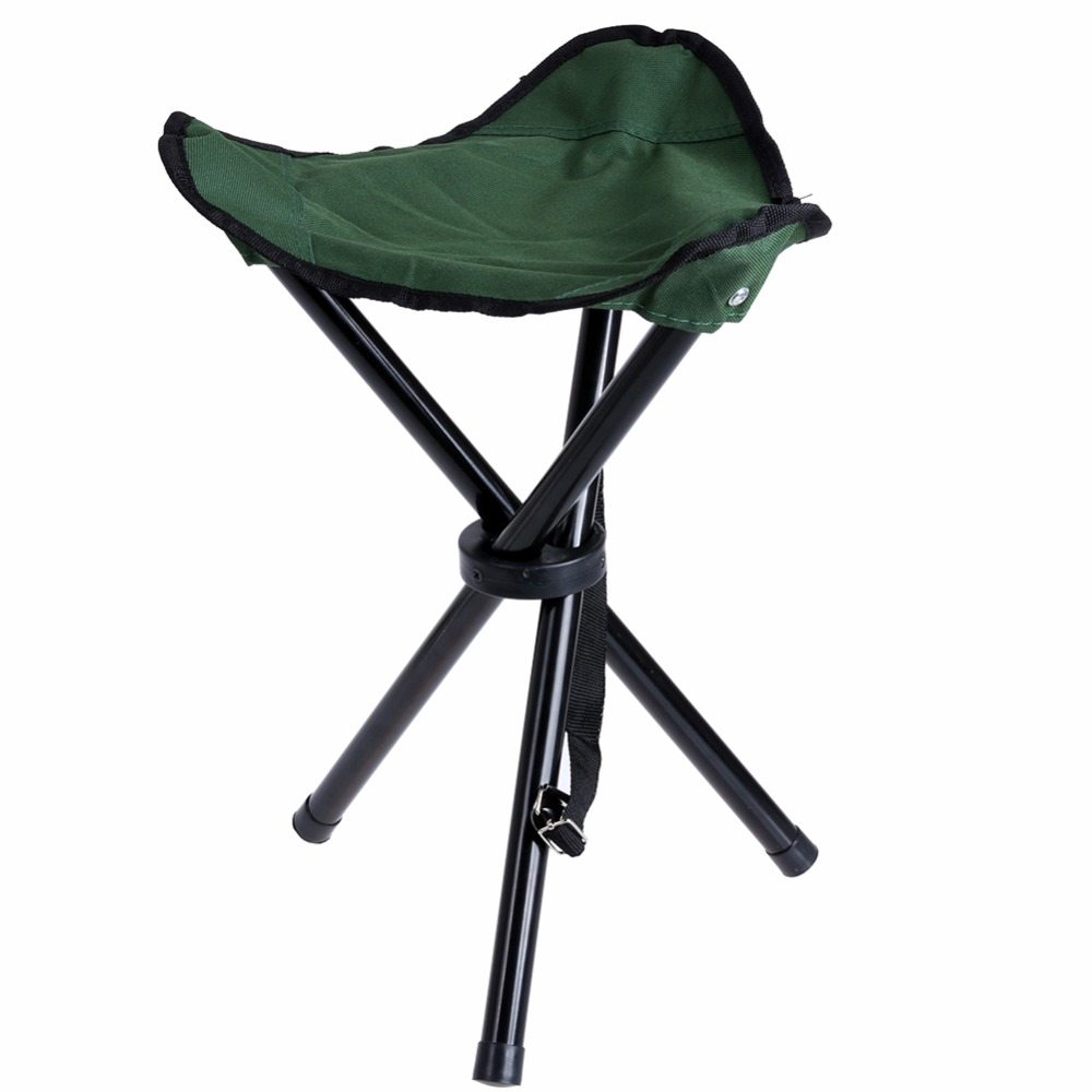 Waterproof Outdoor Tripod Folding Stool Chair Foldable