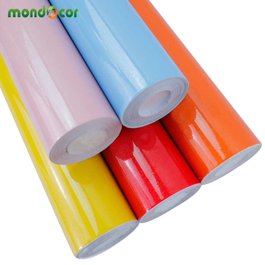 3M/5M DIY Adhesive Vinyl Contact Paper Door Furniture Renovation Wall Sticker Kitchen Cabinet Waterproof Self Adhesive Wallpaper