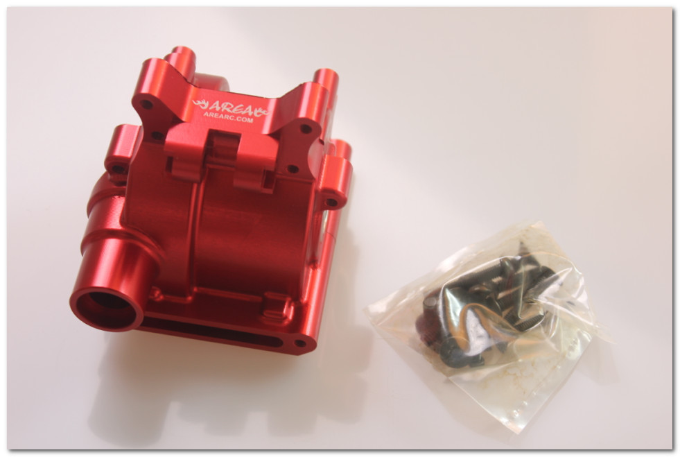 Area Rc rear Alloy gear box Diff for LOSI 5IVE-T red and silver can choose losi 5ive t hd billet rear hub carriers