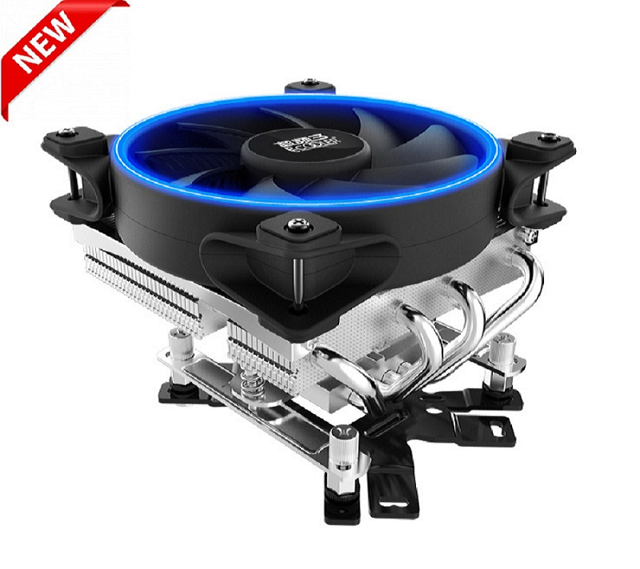 PcCooler U-4D 4 Copper Heatpipes CPU cooler for AMD AM3 AM4 Intel 775 115X CPU radiator 120mm 4pin PWM cooling CPU fan PC quiet cooler master 240 cpu liquid cooler two 120mm quiet fan compatible intel 2066 115x amd am4 cpu water cooling fan cooler