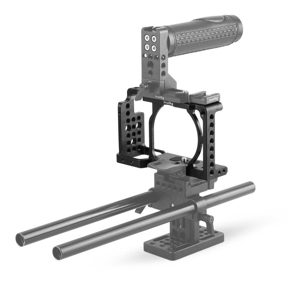 Cage de caméra SmallRig pour Sony A6000/A6300/A6500 ILCE-6000/ILCE-6300/A6500/Nex-7 Cage en alliage d'aluminium pour monter le moniteur de trépied-1661 - 5