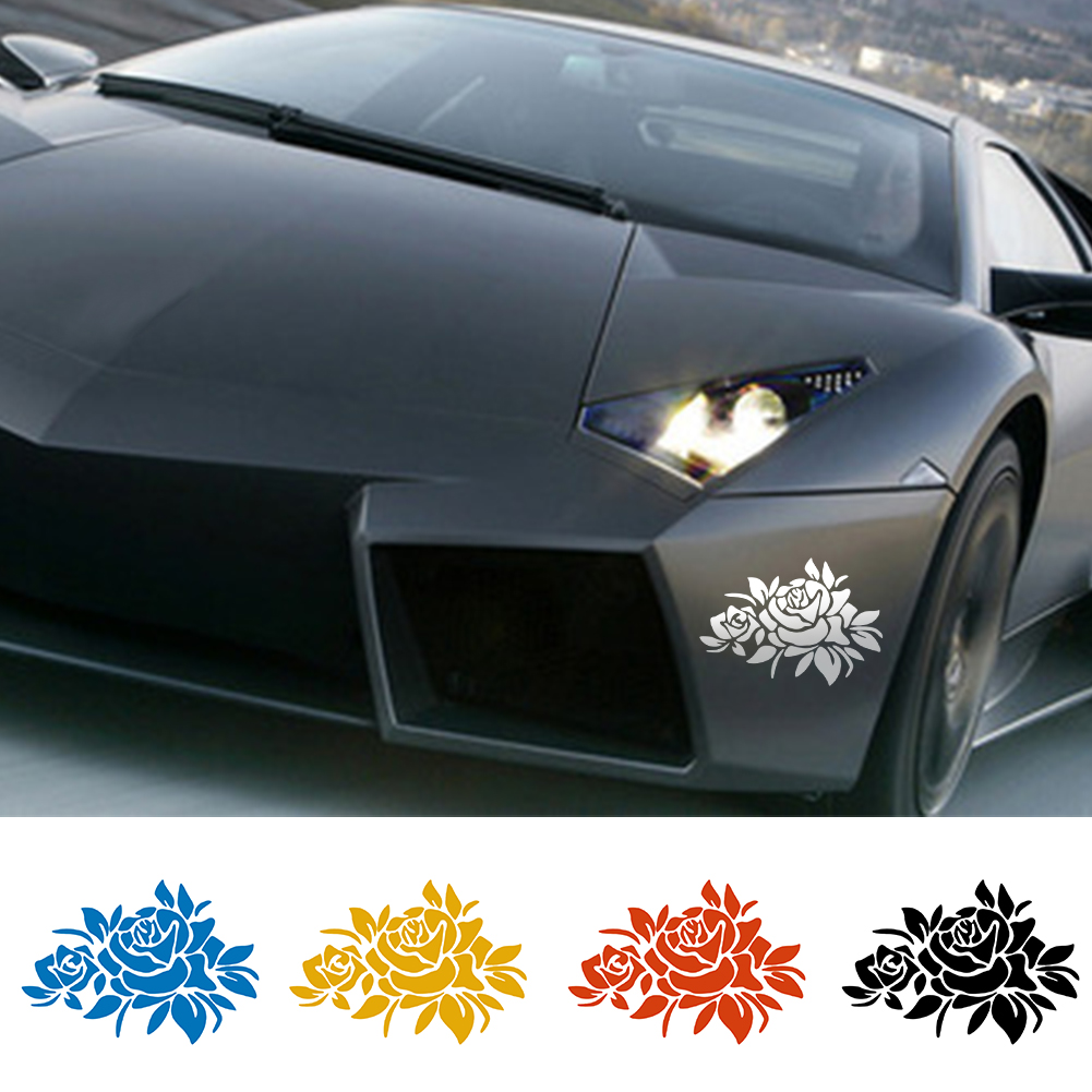Car bumper sticker designs - Car Sticker Flower Car Stickers Cover Scratches Vehicle Bumper Window Decal And Sticker For Auto Decoration