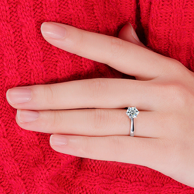 100% 925 Sterling Silver Woman CZ Crystal Wedding Engagement Finger Rings Super Shinning Cubic Zirconia Fine Jewelry 5