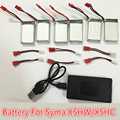 High quality 3.7V 850mAh LiPo Battery + 6in1 AC Charger usb Plug for SYMA X5hw SYMA X5hc RC Drone Quadcopter Spare Parts Set