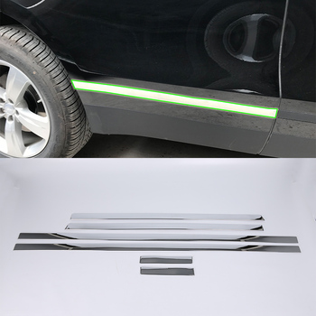 Aksesoris Mobil Dekorasi Eksterior Stainless Steel Side Door Mobil Tubuh Molding Strip Penutup untuk Land Rover Velar 2018 Mobil-Styling