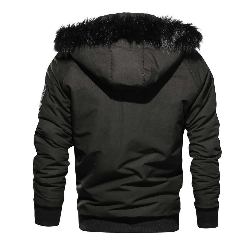 ブランド冬のジャケットの男性 2018 高品質暖かい生き抜く爆撃機のコート男性厚いメンズパーカーウインドブレーカー jaqueta masculina L-3XL