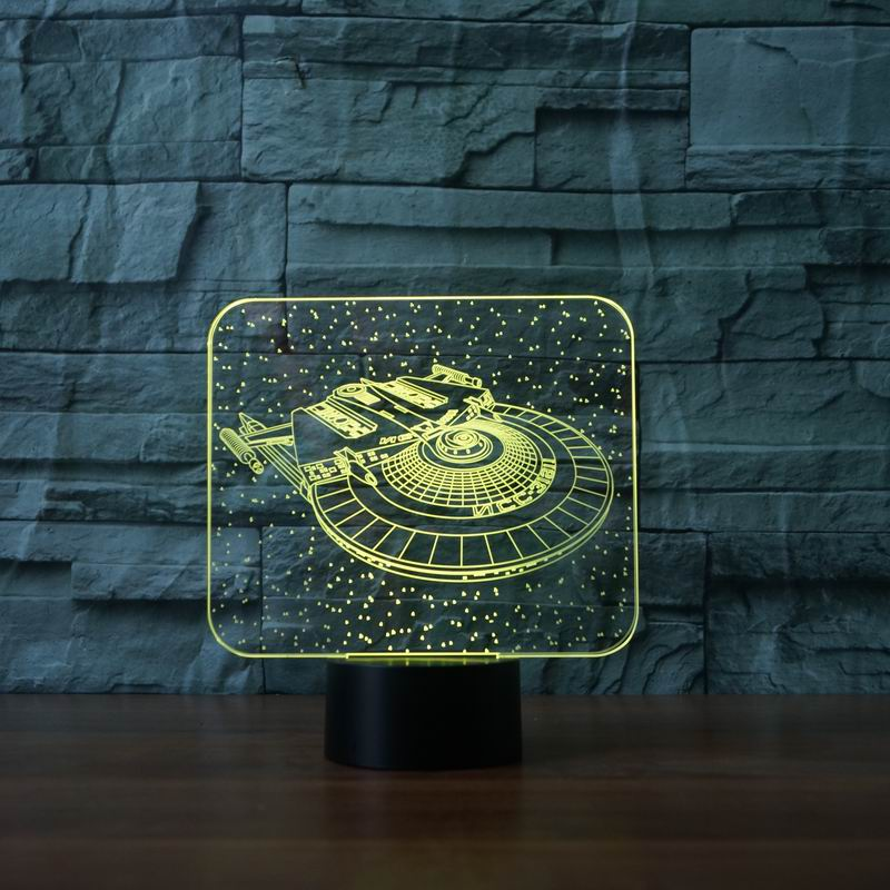Creative Gifts 3D Star Wars Sapceship Lamp LED USB Table Desk Lamp with 7 Colors LED Nights Lamp as Home Decoration