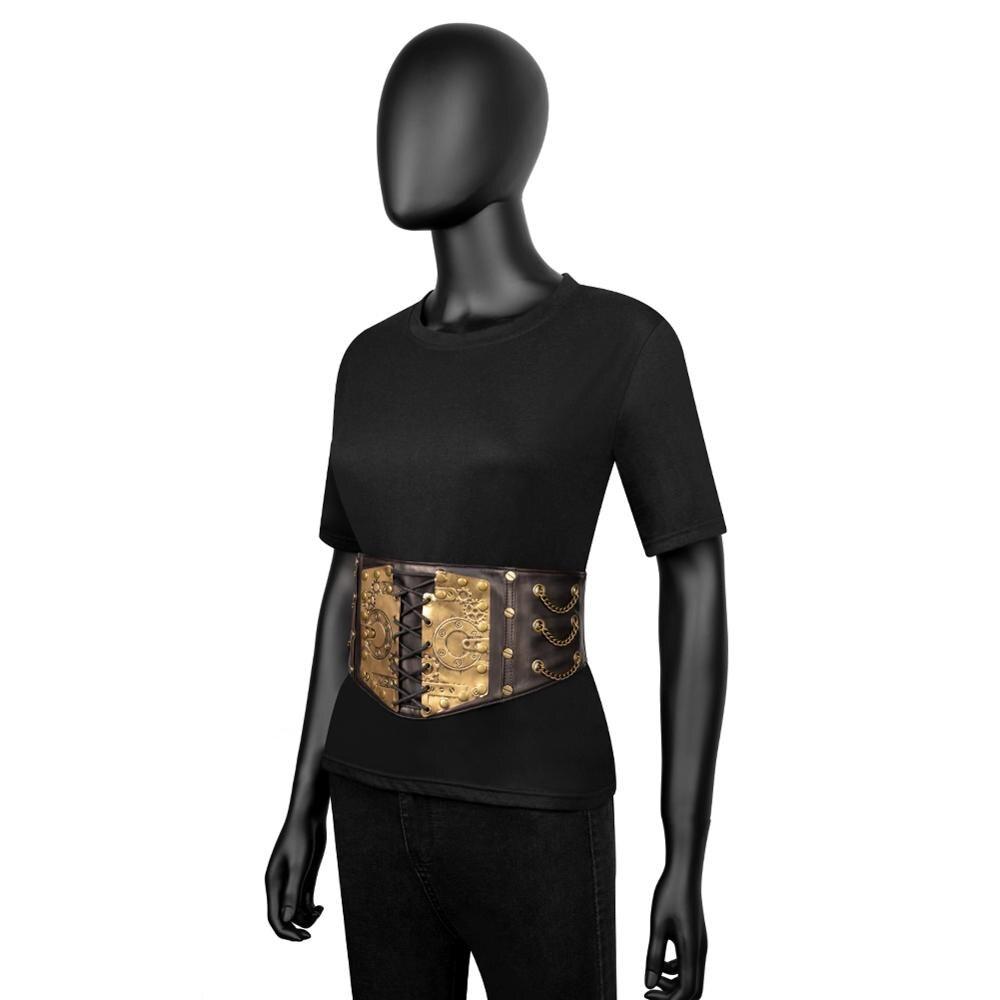 Image 4 - Gear Duke fashion belts Women Ladies Gothic Steampunk Cincher Lace up Waistband vintage Waist Cincher classic wide Elastic Waist-in Men's Belts from Apparel Accessories