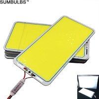 [Sumbuls] ультра яркий 70 Вт флип светодиодный COB чип панель свет 12 В DC Удочка лампа холодный белый для наружное Походное освещение лампы