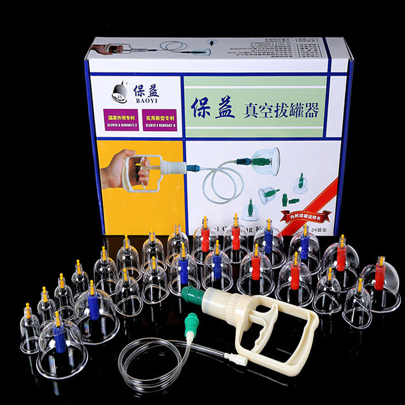 24Pcs Strong adsorption Vacuum Cupping Massage Durable Cupping Therapy Suction Cup Anti-Cellulite Set Kit cupping cups massage free shipping vacuum suction cup strong suction cups high temperature m10 l80 20