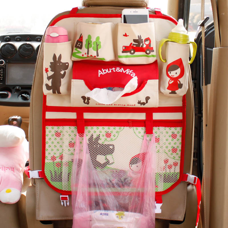 Cartoon Car Organizer Cute Cartoon Car Seat Back Storage Bags Hanging Car Organizador Bags Pocket Car Styling For Kids Y1(China)