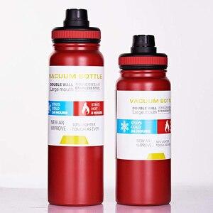 Image 5 - Спортивная бутылка для воды UPORS из нержавеющей стали, 600 мл/800 мл, большая емкость, двойные стенки, вакуумная Изолированная кружка, портативный термос, бутылка