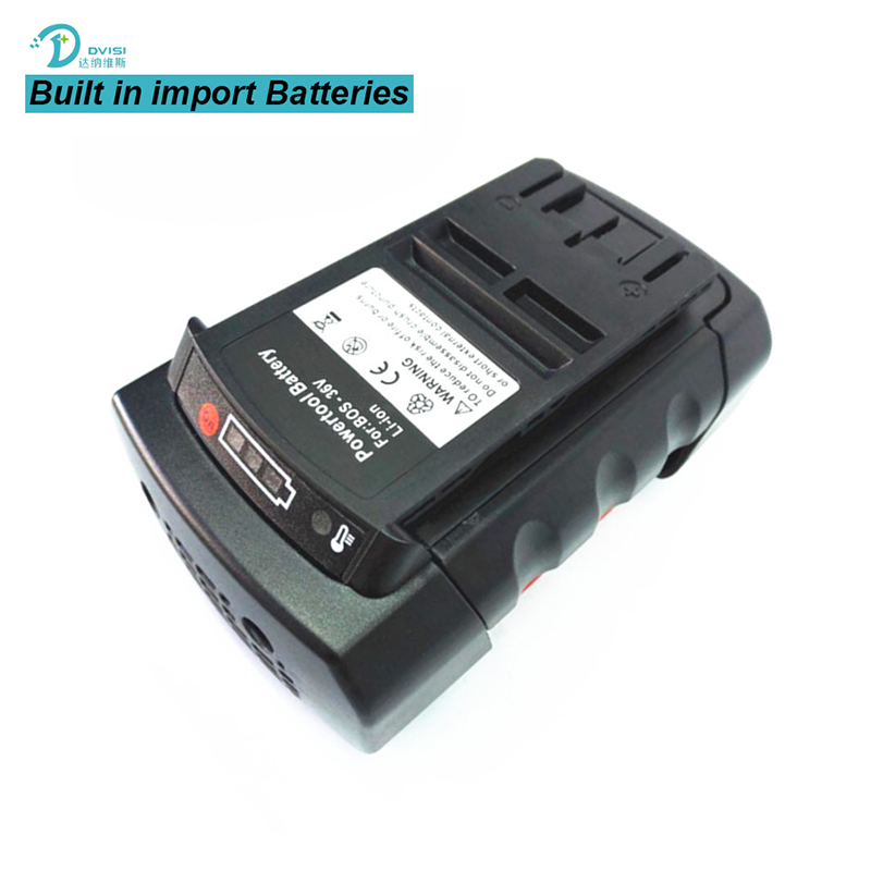 DVISI 36v 4000mAh New Rechargeable li-ion Power Tool Battery Replacement for Bosch 36V BAT810 BAT836 BAT840 D-70771 2607336108 5pcs lithium ion 3000mah replacement rechargeable power tool battery for bosch 36v 2 607 336 003 bat810 bat836 bat840 36 volt