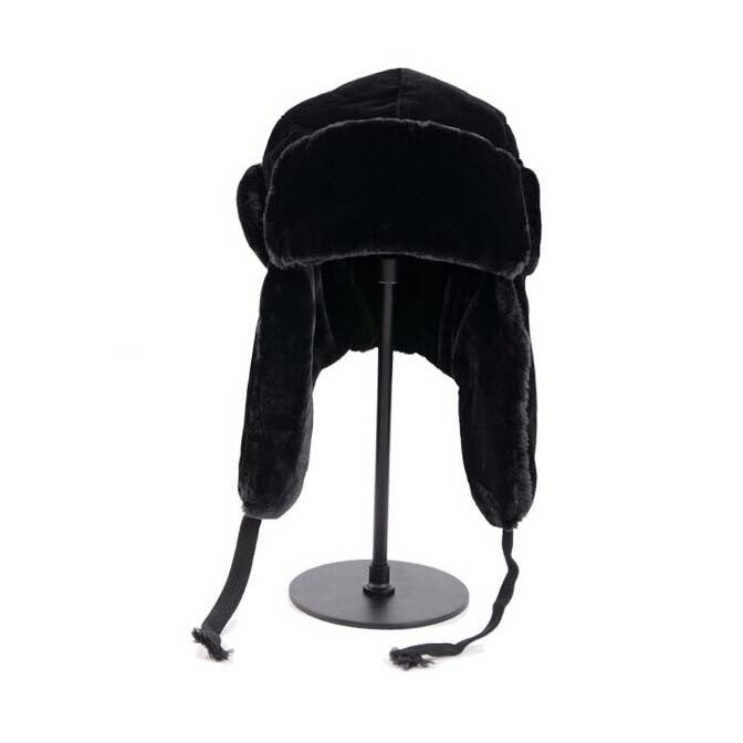 2017 New Brand Men's winter hat warm beanies cap with velvet masked Riding headgear with a veil thick