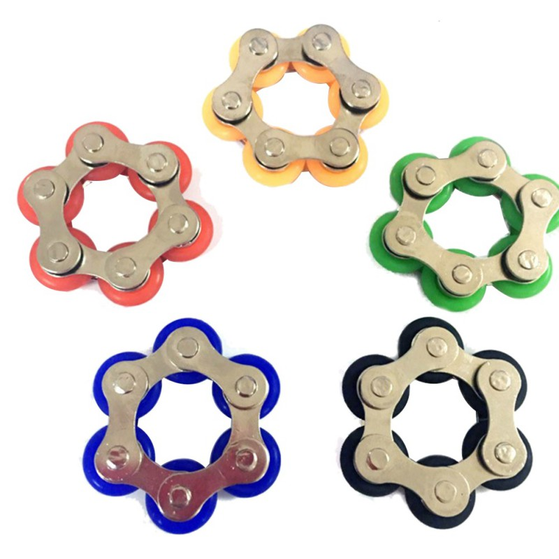 New Key Ring Chain Fidget Toy - Great For Autism ADD, ADHD, Stress & Anxiety Chain Decom ...
