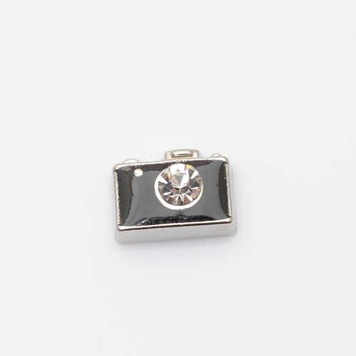 CAMERA, nổi charm fit nổi lockets quyến rũ, FC0273, 10 CÁI/LỐC