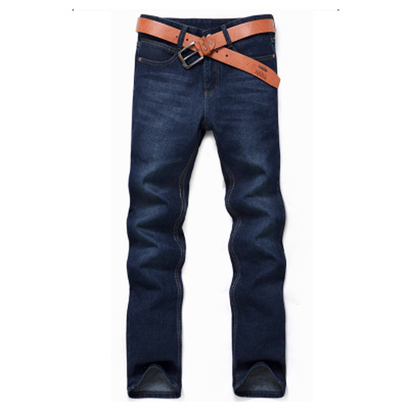 2017 Casual Denim Pants Men Full Length Slim Pencil Jeans Solid Blue Classic Leisure Jeans Fashion Male Trousers Streetwear Z20 fashion mens skinny jeans men denim pants light blue solid casual male trousers 2017 brand clothing slim fit pencil jeans pant
