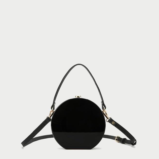 Barrel-Shaped Box Clutch Acrylic Bag