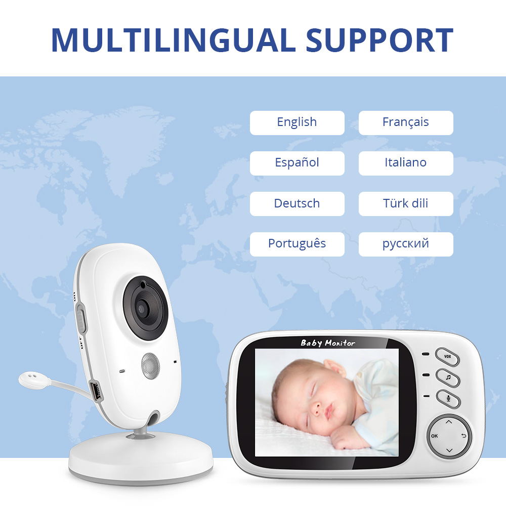 3 Inch Wireless Baby Monitor With High Resolution Night Vision To Baby Security Camera 5