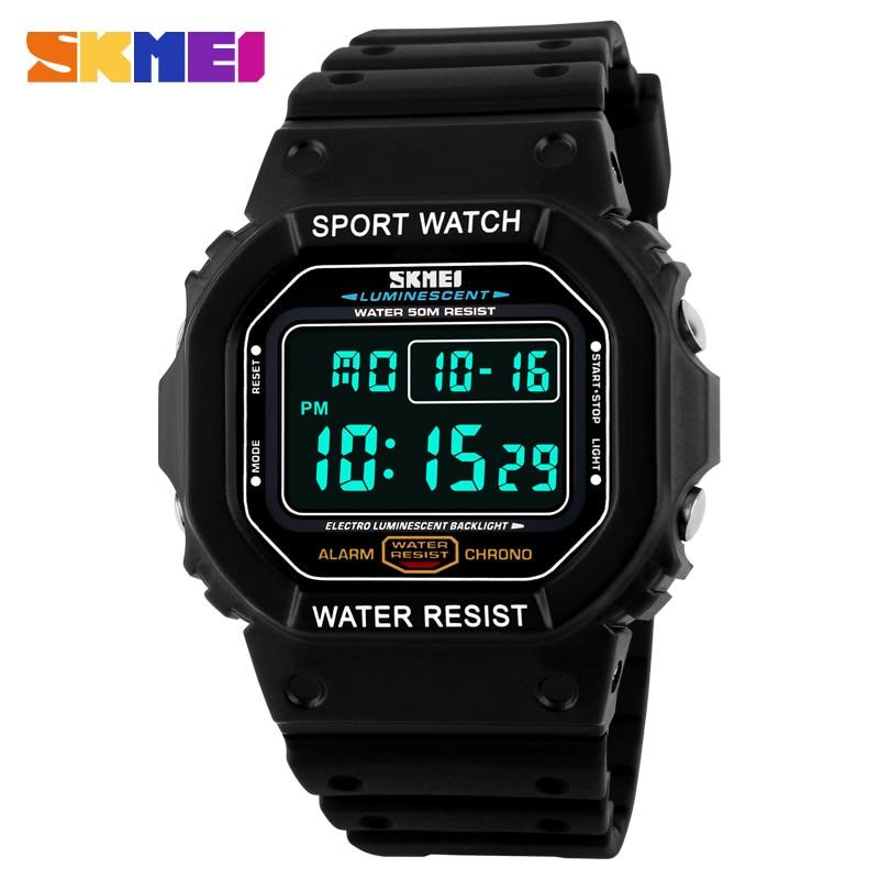 New Fashion Skmei Brand LED Watch Men Sports Watches Digital Military Watch 50m Waterproof Outdoor Dress Wristwatches