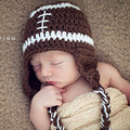 Baby Football Hat with Earflaps Infant Newborn Photography Photo Props Baby Boy Beanies Cap & Hat H193