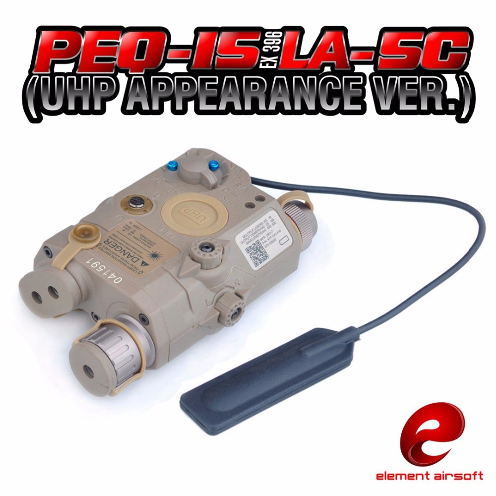 Element PEG-IS LA-SC UHP APPEARANCE VER Battery Case with Red Laser IR Lens LED Flashlight Airsoft Laser for Shooting Game EX396