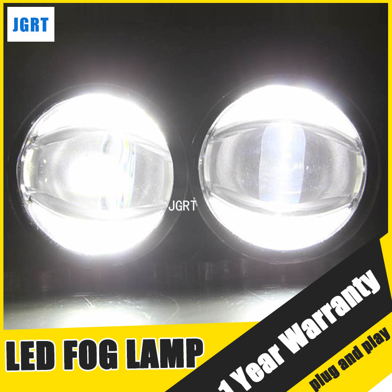 JGRT Car Styling LED Fog Lamp 2013-2017 for Toyota Fortuner LED DRL Daytime Running Light High Low Beam Automobile Accessories akd car styling fog light for toyota yaris drl led fog light headlight 90mm high power super bright lighting accessories
