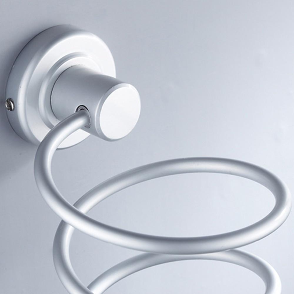 Durable Aluminum Blow Hair Dryer Holder wall shelf Estante ...