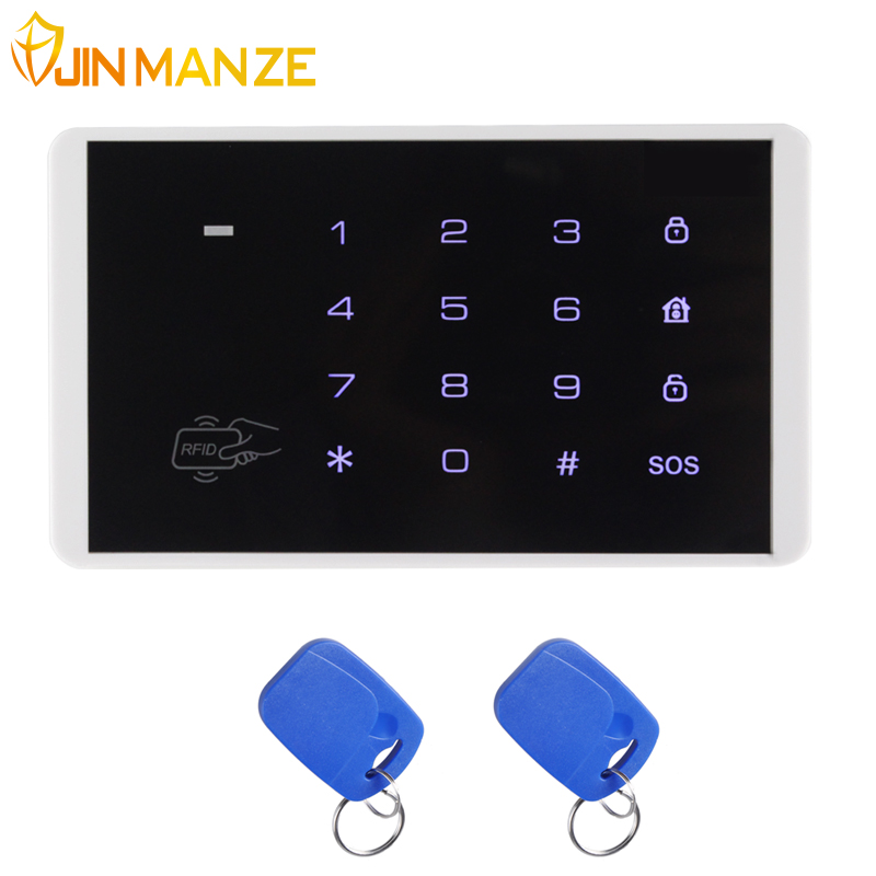 JINMANZE Official Store New K16 Wireless RFID Card Touch Keypad for PSTN GSM Alarm Systems Burglar Access Control System Wireless Password Keypad