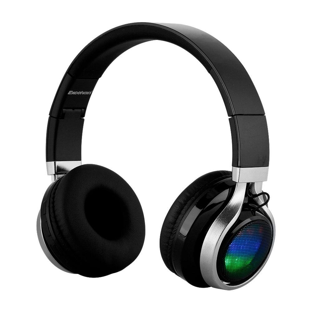 New Over-ear wireless Bluetooth  headphone LED Stereo Headphones Headset Earphone Universal car charger bluetooth wireless headphones in ear earphone headset mini stereo headphone white color