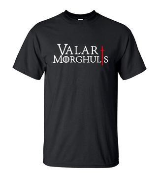 Gran oferta de Juego de tronos, Valar Morghulis Printes 2019 camiseta de moda de verano pantalón corto Casual de manga larga o-Cuello de los hombres camisetas 100% algodón