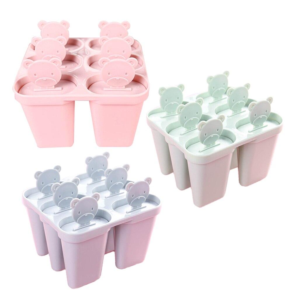 6 יח'\סט סלולרי הגלידה פופ DIY קפוא עובש שימושי מטבח גלידת כלי ארטיק יצרנית לולי תבנית מגש פאן עבור 2019